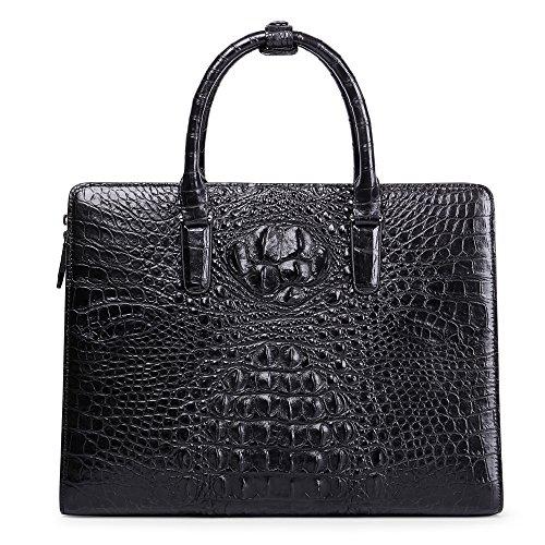 Genuine Leather Men Bag Business Men Handbag Laptop Bag Crocodile Skin Briefcase by BOMEANS