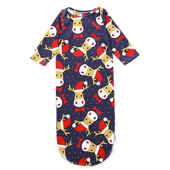 GZQ Pijamas Enteros para Bebe, Ropa de Dormir para Navidad, Traje de Ropa del