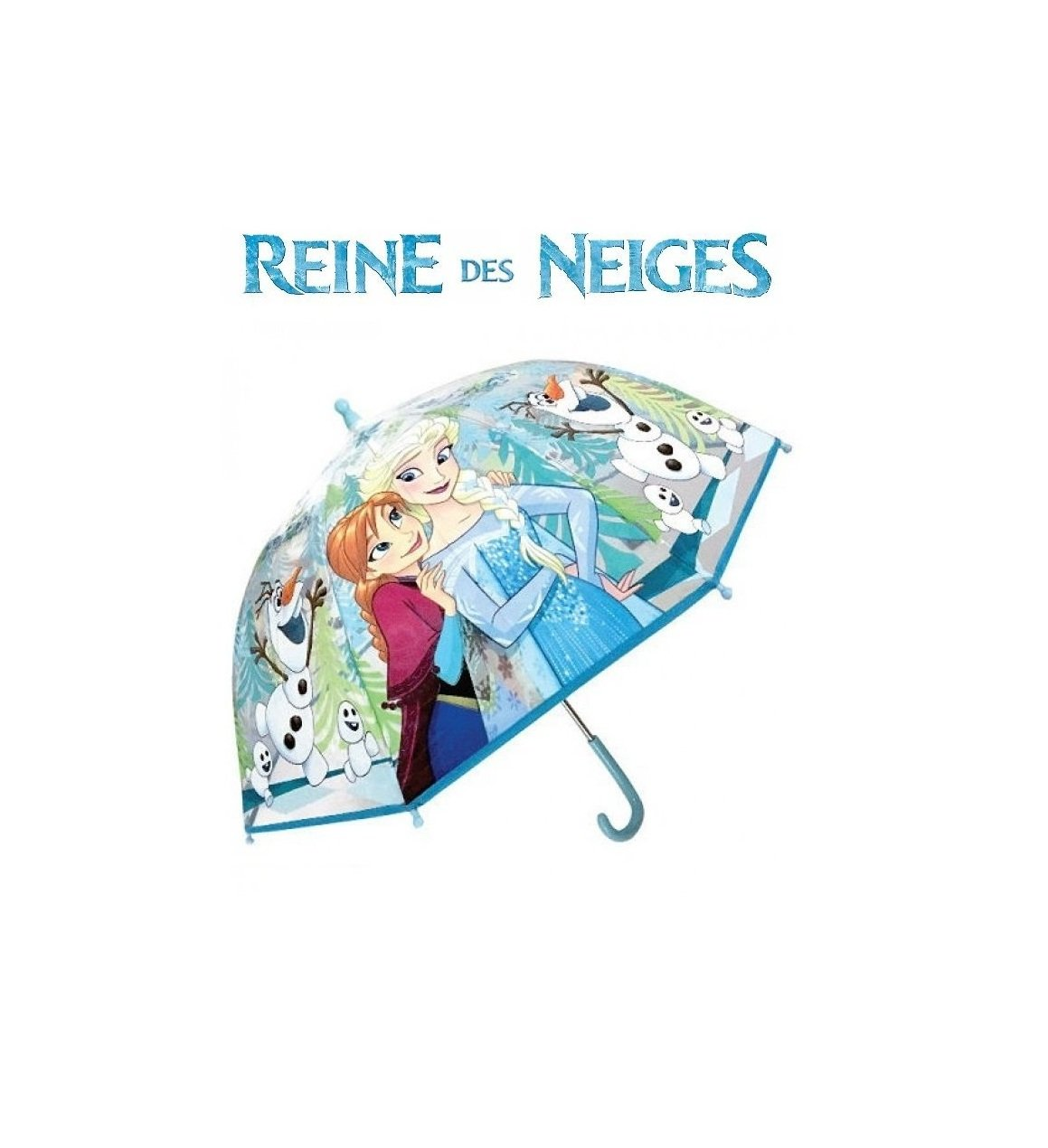 REINE DES NEIGES PARAPLUIE TRANSPARENT
