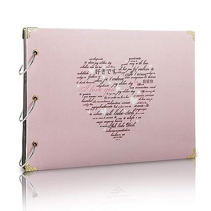 Scrapbook Album Photo Livre D Or De Mariage Souvenirs Bricolage Avec 60 Pages Noires Cadeau Pour Saint Valentin Anniversaire Noel Voyage Mariage Pour