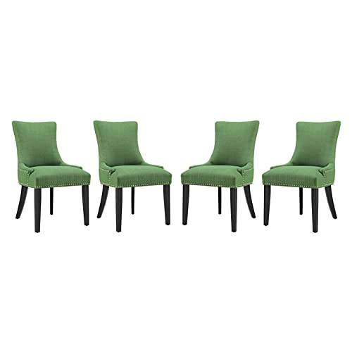 Modway Marquis Dining Chair Fabric Set of 4, Four, Kelly Green