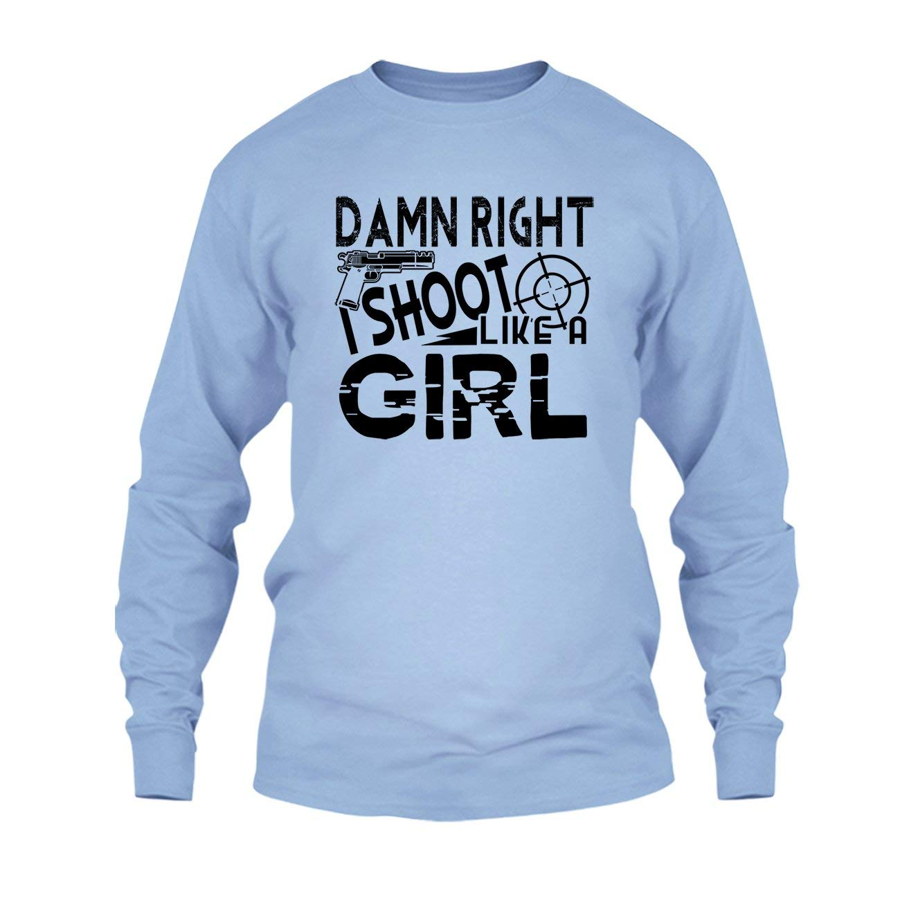 Amazon com shoot like a girl shirt t shirt long sleeve shirt clothing