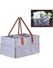 CUILEE Cajas para pañales Nursery almacenamiento bin cesta de fieltro bolsa de organizador Basura pañales toallitas