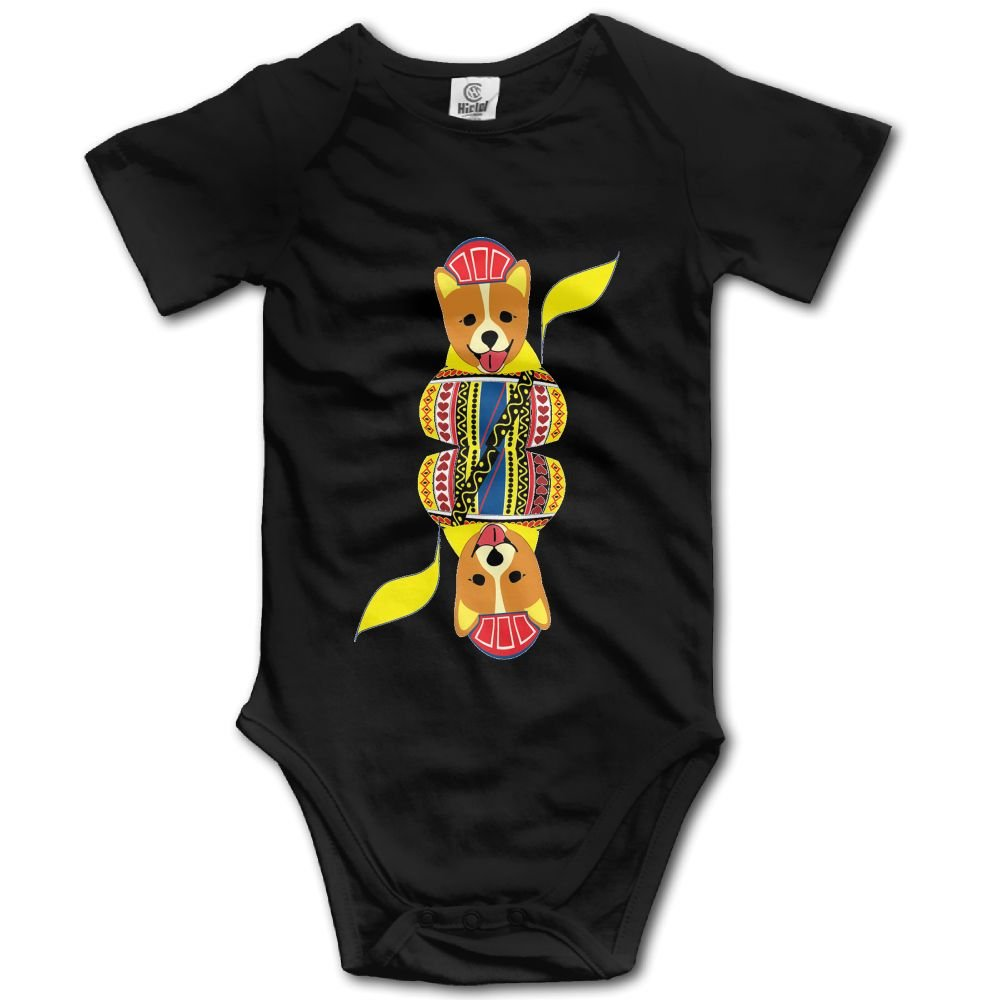 Rainbowhug Corgi Dog Unisex Baby Onesie Cartoon Newborn Clothes Funny Baby Outfits Soft Baby Clothes