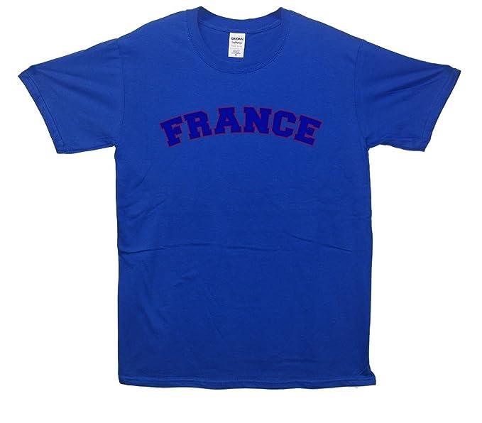 Minamo Francia fútbol Deportes Camiseta Azul Azul Medium