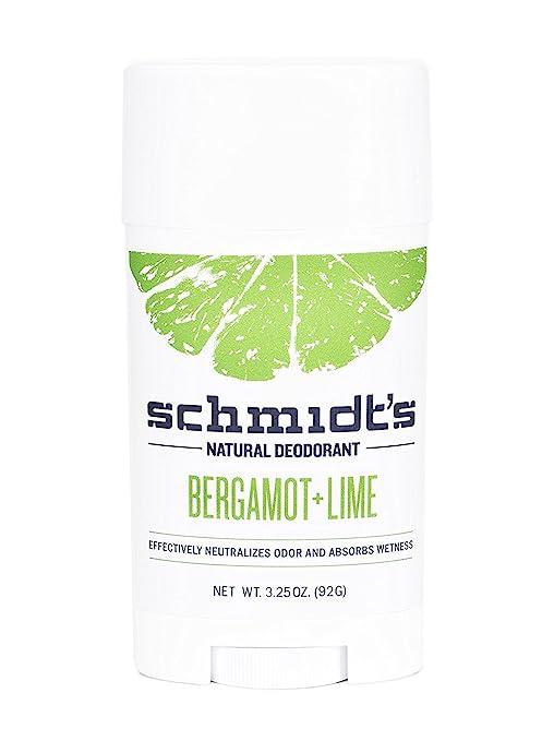Schmidt's Deodorant Stick, Bergamot + Lime, 3.25 Ounce