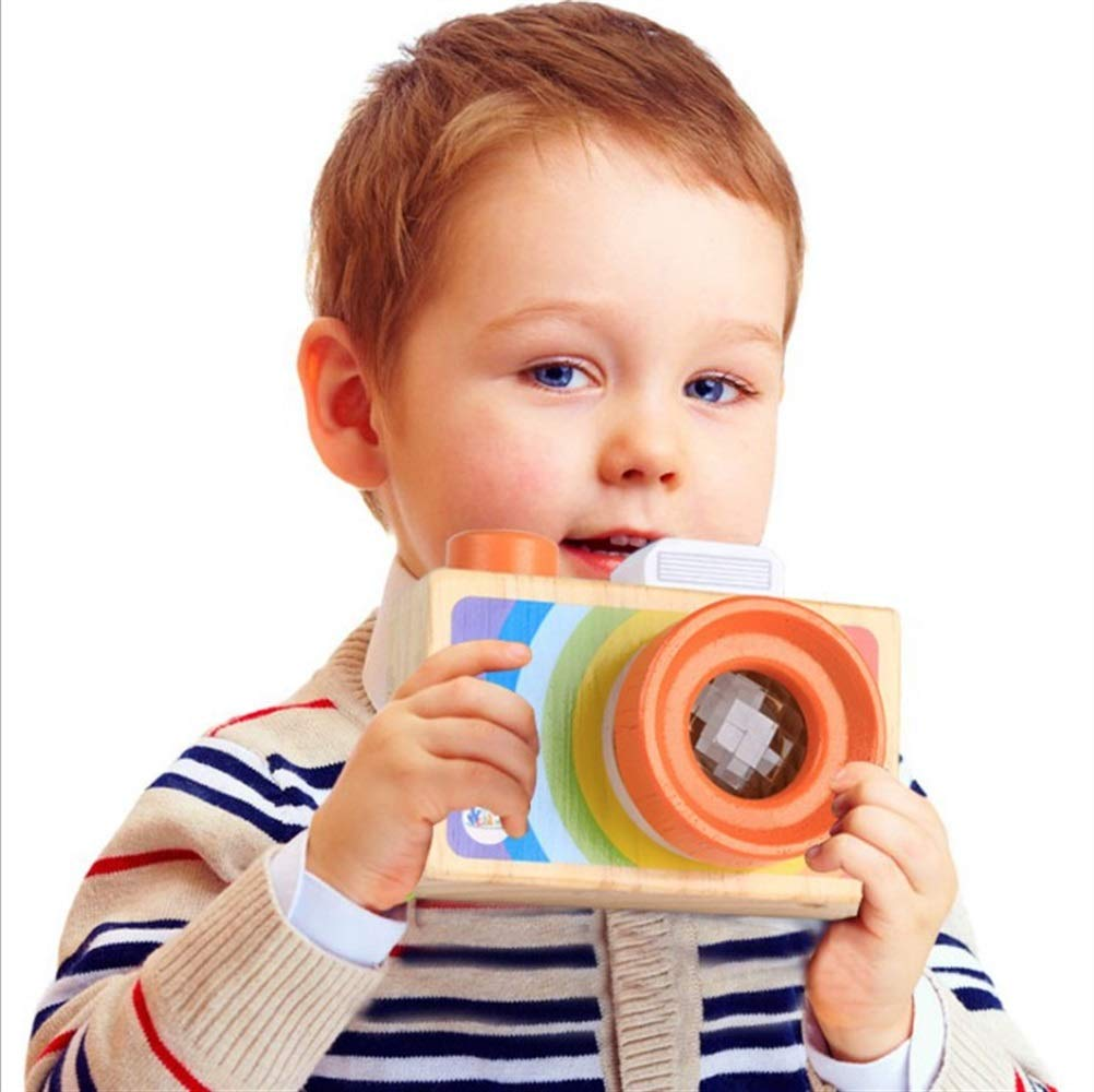 Yingealy Unique Gift Cartoon SLR Camera Design Kaleidoscope Multi Prism Children Fun Toy(Portable Camera)