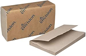 Georgia Pacific Products - Georgia Pacific - Envision 1-Fold Paper Towel, 10-1/4 x 9-1/4, Brown, 250/Pack, 16/Carton - Sold As 1 Carton, Embossed. - Ideal for bathrooms and Shared Work Areas. -