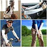 AmaziPro8-Sports-Cooling-UV-Protection-Arm-Sleeves-with-Reflective-Band-for-IndoorOutdoor-Activities