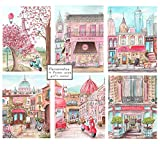 Set Of 6 Travel Themed Nursery Canvases, Personalize London, NYC, Paris & Rome, 5 Sizes - 8x10'' to 24 x 36''