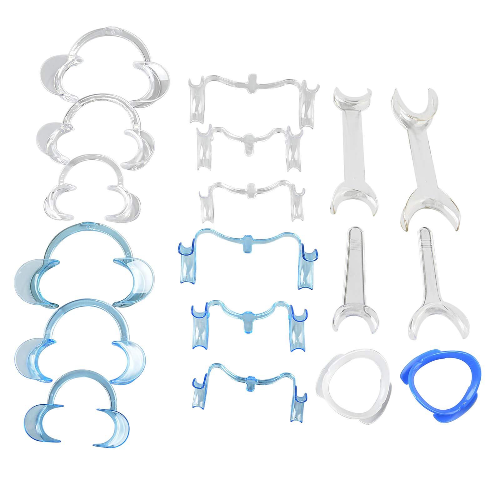 AZDENT Intraoral Dental Cheek Lip Retractor Teeth Whitening Mouth Opener Teeth Retractors Kit Full Size (18pcs/kit)