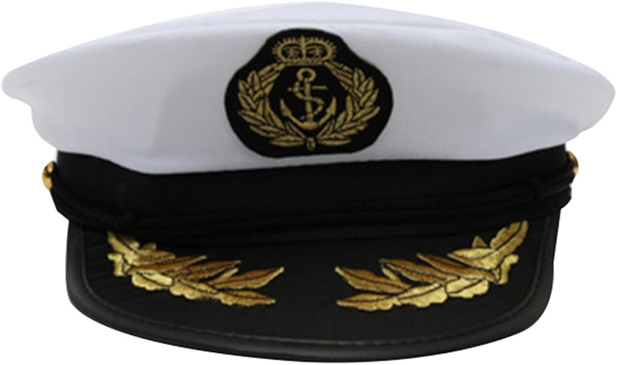 LUOEM Captain cappello cappello costume Marine Admiral cappello costume accessori