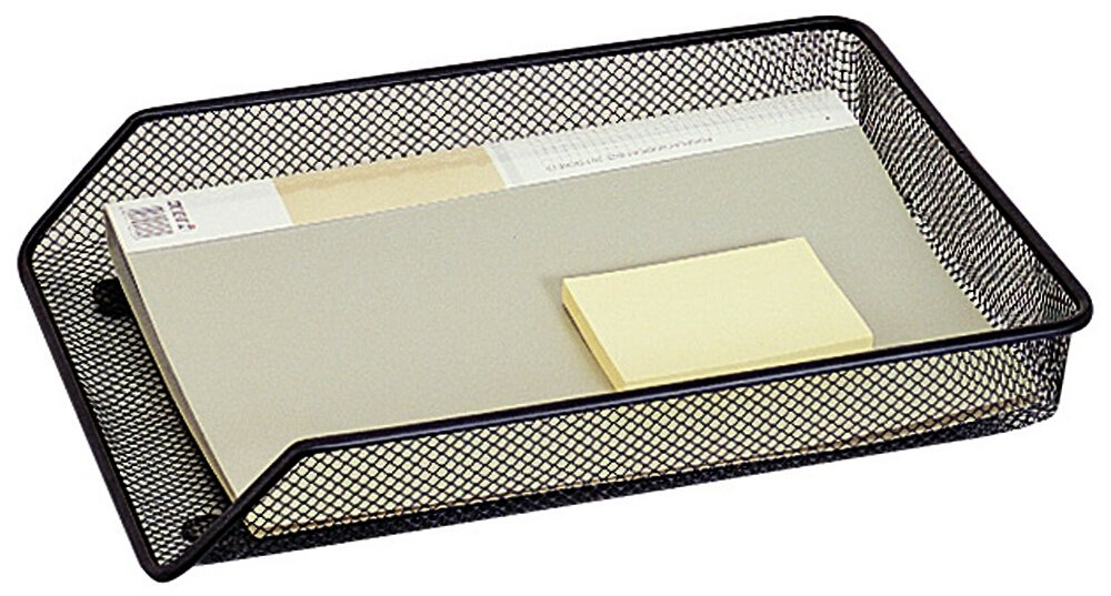 QCONNECT MESH A4 LETTER TRAY BLK KF00848 VOW
