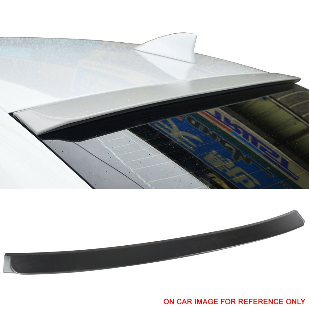 Roof Spoiler Fits 2014-2016 Lexus IS250 XE30 | IKON Style Unpainted Raw Material Black ABS Rear Wing Window Roof Top Spoiler by IKON MOTORSPORTS | 2015