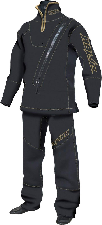 J-FISH ドライスーツ EVOLUTION ウェットドライスーツ (スモールZIP付) 黒×ゴールド L JWD39216