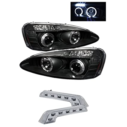 amazon com: 2005 pontiac grand prix halo headlights projector head lights +  8 led fog lamps: automotive