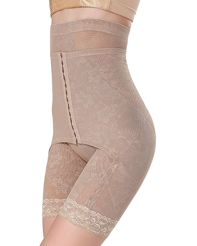WAROFT Women's Easy Off Hips Body Shaper High Waist Cincher Thigh Slimmer Shapewear