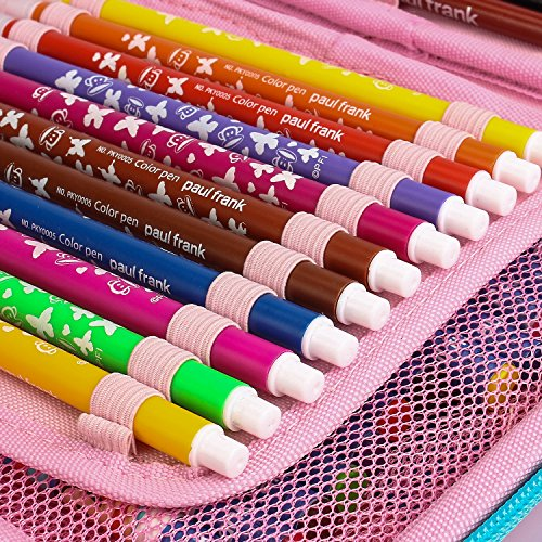 ELOKI Hard Pencil Case, 48 Slots Zipper Pen Case Stationery Pouch Bag Holder for Colored Pencils by ELOKI (Image #4)