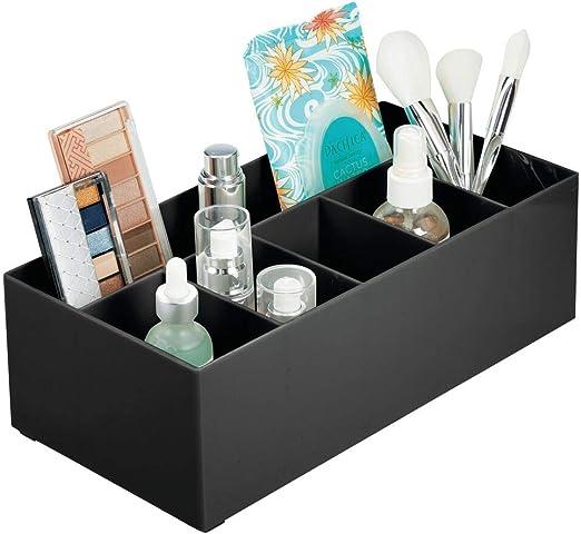 mDesign Organizador de cosméticos para el Lavabo o el tocador ...