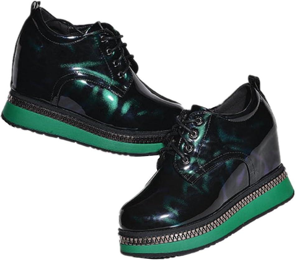 All'interno l'aumento di scarpe da donna con una spessa suola di scarpe primavera primavera scarpe casual nuovi selvatici green