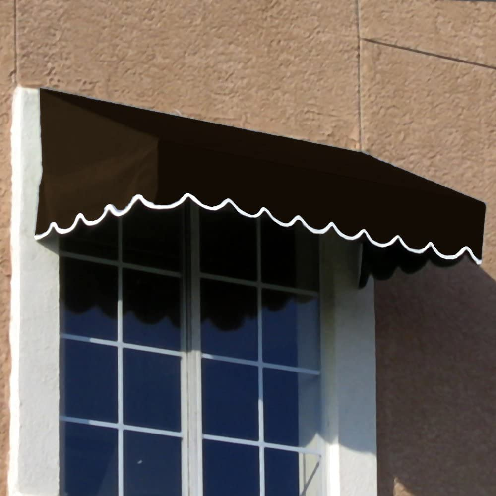 Awntech 6-Feet San Francisco Window Entry Awning, 24-Inch Height by 36-Inch Diameter, Brown