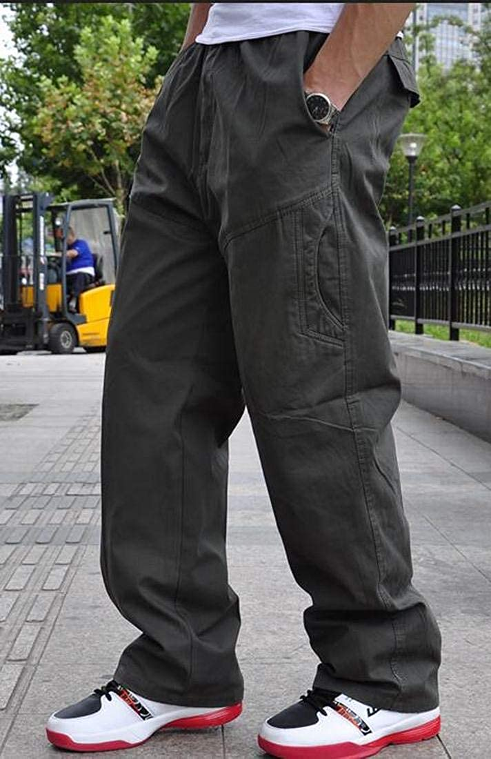 Pivaconis Mens Big /& Tall Multi-Pockets Outdoor Military Tactical Work Cargo Pants
