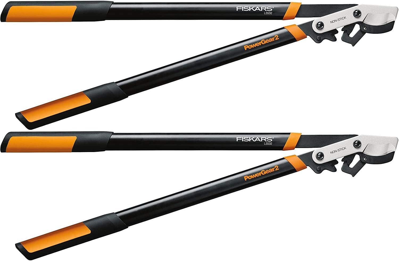 Fiskars PowerGear2 Bypass Lopper, 32 Inch, Black/Orange (394801-1003)-2 Pack