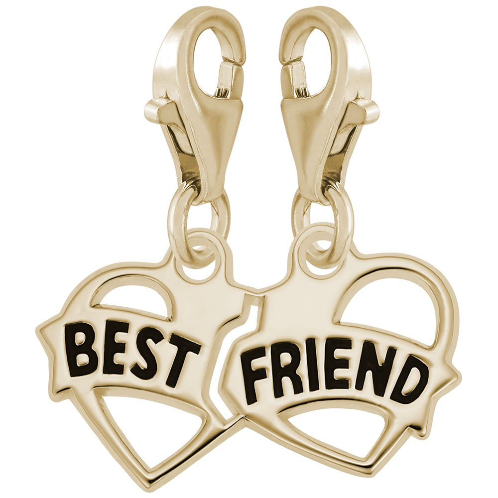 Charms for Bracelets and Necklaces Best Friends Charm With Lobster Claw Clasp