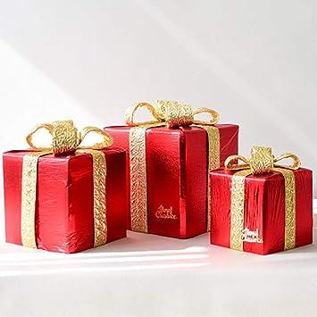 YWYU Decoraciones navideñas Cajas Bolsas de Regalo Adornos ...