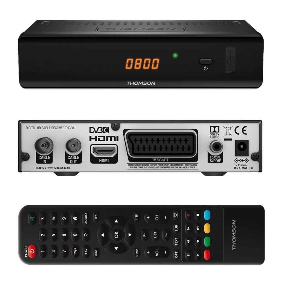 Thomson Thc301 Full Definition Dvbc Dvb C Hd Cable Receiver For Ir S Pdif Digital Tv Hdmi Scart Epg Usb Media Player Suitable Network Vodafone