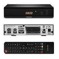 THOMSON THC301 HD Receiver für digitales Kabelfernsehen DVB-C Full HD (HDTV, HDMI, SCART, USB, Mediaplayer) schwarz