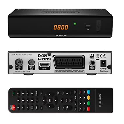 Thomson THC301 Cable Negro TV Set-Top Boxes - Reproductor/sintonizador (Cable,