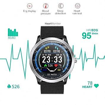 XSH ECG PPG Reloj Inteligente con Electrocardiógrafo ECG Pantalla ...