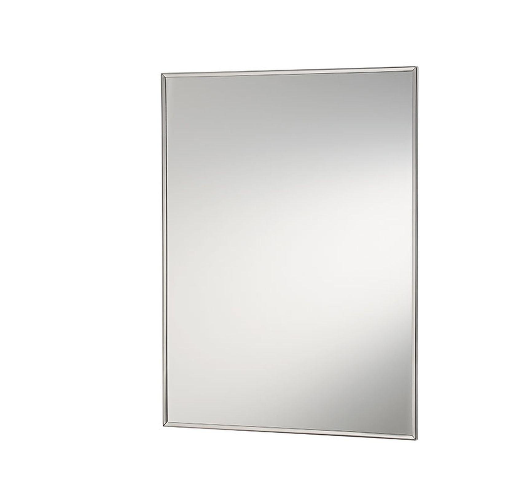 "Jensen 401ADJX Stainless Steel Frame Medicine Cabinet, 16"" x 20"" - Recess mount: wall opening - 14 inch w x 18 inch H Left or right hand opening; butt hinge Stainless steel Frame - shelves-cabinets, bathroom-fixtures-hardware, bathroom - 61zI4ST48nL -"