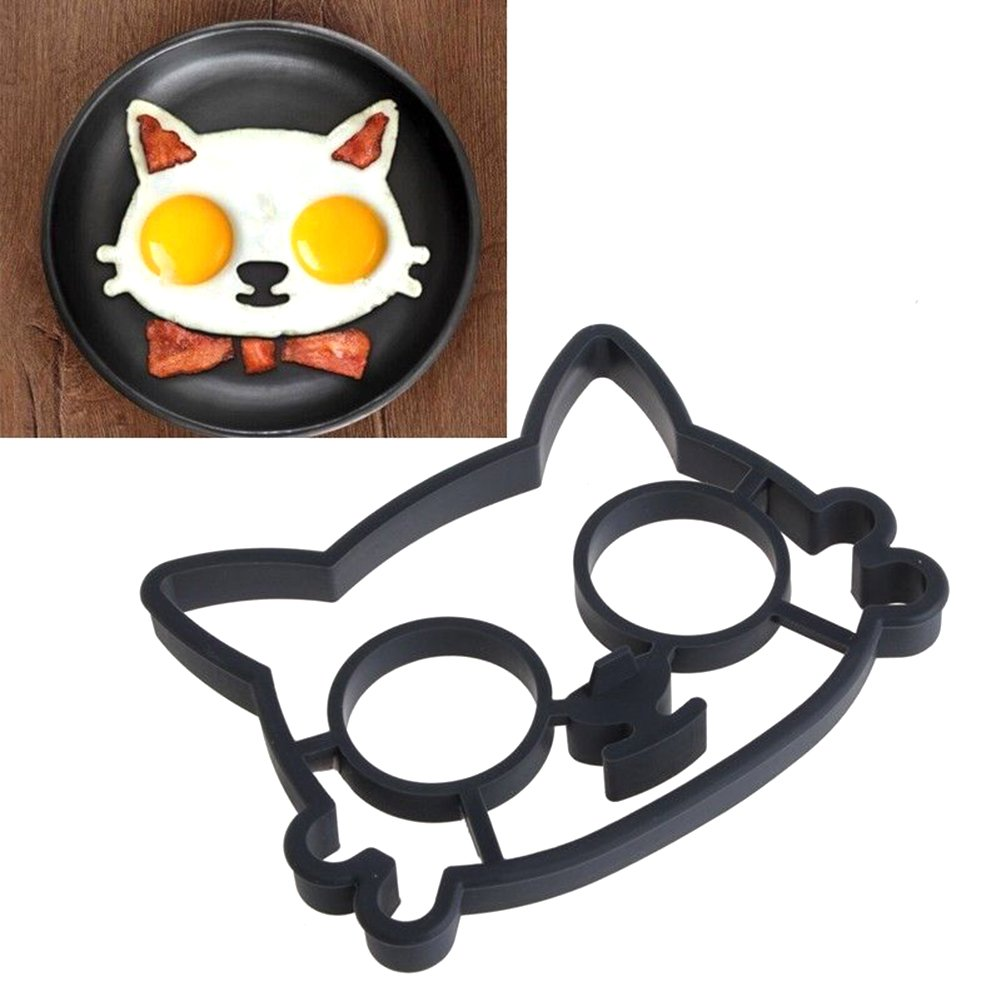AllGreen Silicone cat shaped Fry Egg Mold, Fried Eggs Tools Mould, Ring Mold