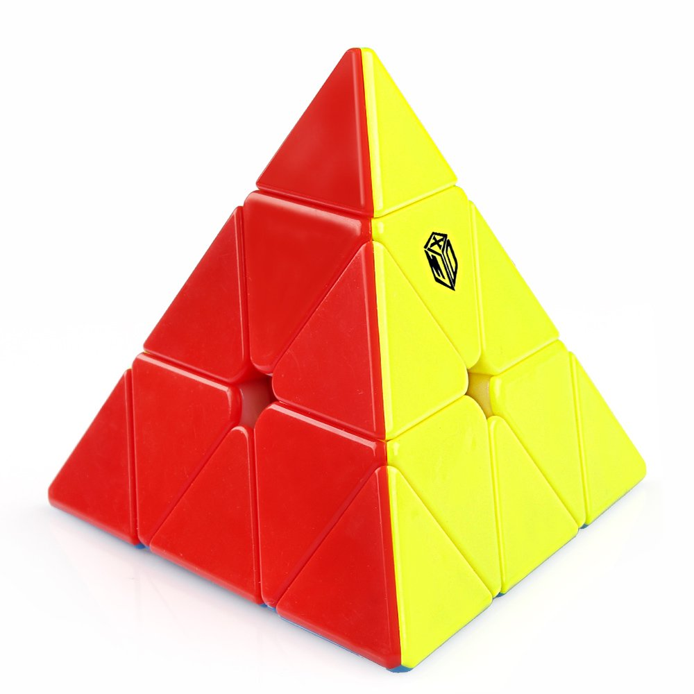 Coogam Qiyi X-Man Bell Magnetic Pyramid Stickerless Speed Cube Pyramid Puzzle Toy