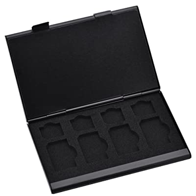 Étuis pour Cartes Mémoire, VBESTLIFE Boîte de SIM Micro Nano SIM Cartes Pin 15 en 1(Black)
