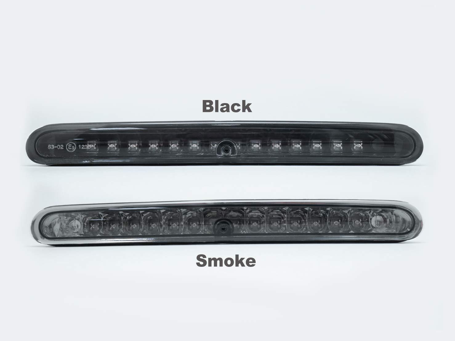 Luz de freno 2D 5D transparente luz de freno. tercera luz trasera LED roja LED