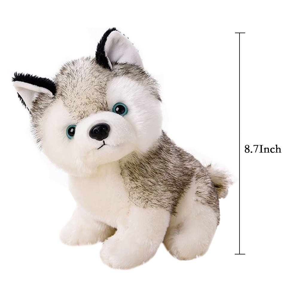 "18/22/28cm(7/9/11"") Super Cute&Cuddly Soft Plush Stuffed Cute Animal Doll Toy Holiday Kid Gift,Husky Pet Dog Plush Pillow ,For 1-18 Years Kids Children"