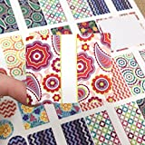 81 Kaleidoscope Oval Poly Weatherproof Essential Oil Bottle Labels Plus 81 Top Stickers By Rivertree Life