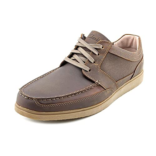 Shop CLARKS Mens Cotrell step Leather Lace Up Casual Oxfords