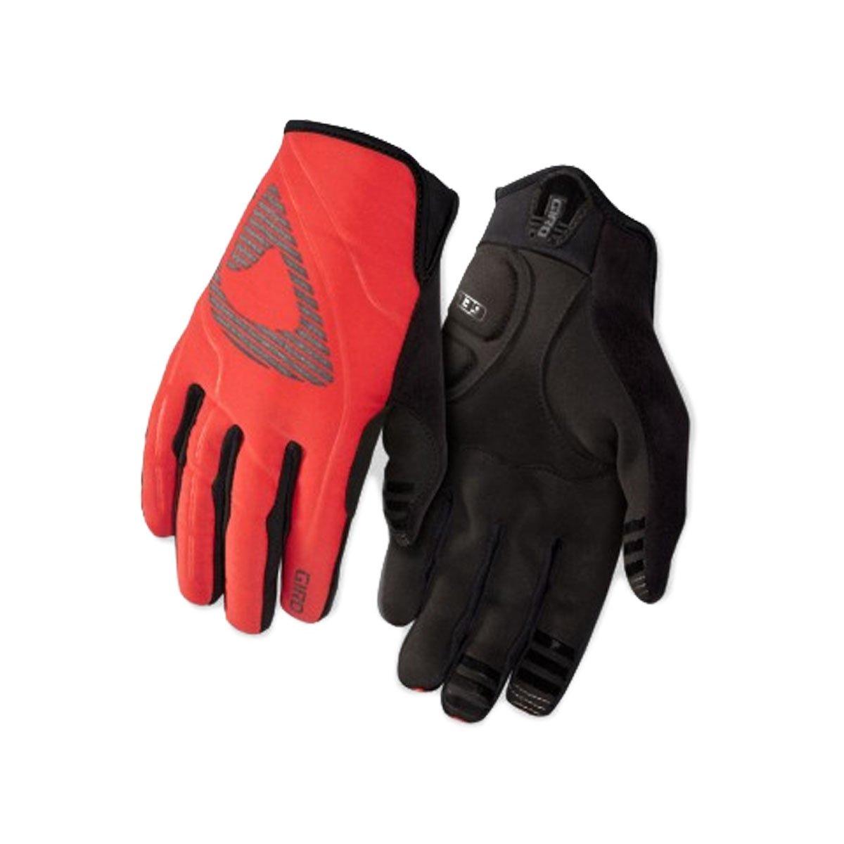XS Giro GA09070 Mens Blaze Winter Gloves Glowing Red