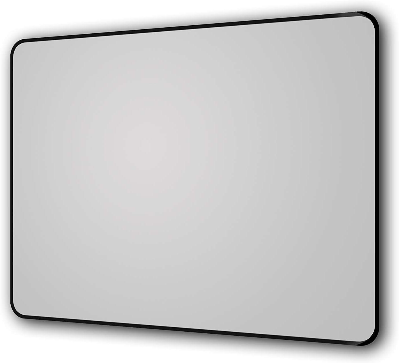 Hochwertiger Aluminiumrahmen in Matt Schwarz 80 x 60/cm Talos 50204 Miroirs muraux M/étal