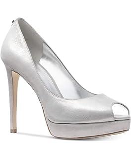e1d94a16f23c Michael Michael Kors Womens Erika Fabric Peep Toe Platform Pumps