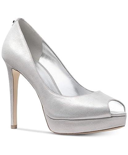 09ebf6015e Amazon.com | Michael Michael Kors Womens Erika Fabric Peep Toe Platform  Pumps | Pumps