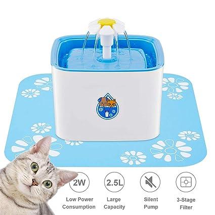 Amazon.com: GETIEN - Fuente de agua para gatos, de 2,5 l ...