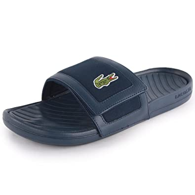 c1bf79ef73ed1 Lacoste Fynton Usm Mens Synthetic Sandals Dark Blue 8 UK  Amazon.co.uk   Shoes   Bags