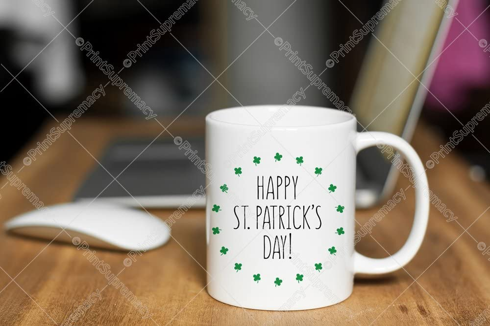 Happy St Patrick/'s Day I High Quality Lead Free Ceramic Coffee Mug Tea Cup White 11 oz Him//Her//Men//Women//Husband//Wife//Boyfriend//Girlfriend//Mom//Dad//Kids//Son//Daughter//Teacher//Friend//Boss