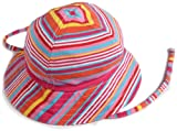 Zutano Baby-girls Infant Multi Stripe Sunhat, Fuchsia, 6 Months