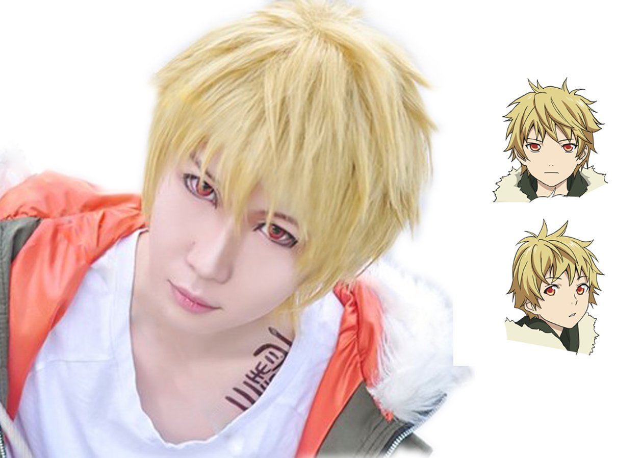 Xcoser Yukine Wig Noragami Cosplay Golden Short Wig Hair CostumeAccessories